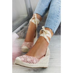 Růžové platformové sandály May