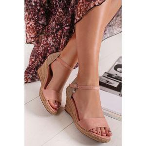 Světle růžové platformové sandály 34258