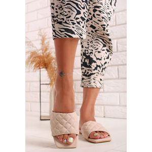 Béžové nízké pantofle Ella