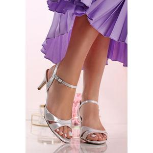Stříbrné sandály Bovicolo
