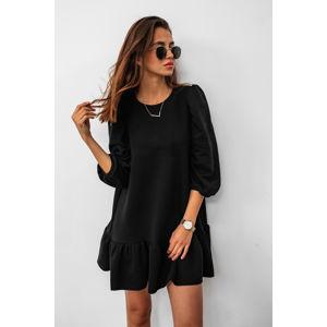 Černé volánové šaty Sally