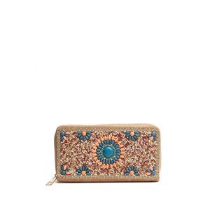 Oranžovo-tyrkysová peněženka Gabrielle