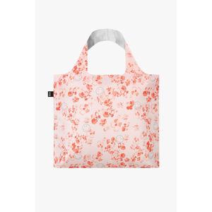 Ružová kvetovaná eko taška Smiley Blossom