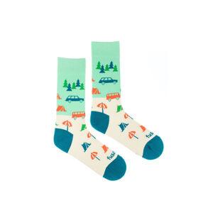 Vícebarevné vzorované ponožky Stanovačka
