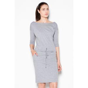 Šedé šaty VT080