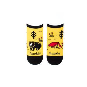 Žluté kotníkové ponožky Kemping