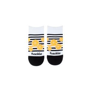 Černo-bílé kotníkové ponožky Kyselka