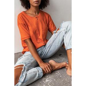 Oranžové tričko Split
