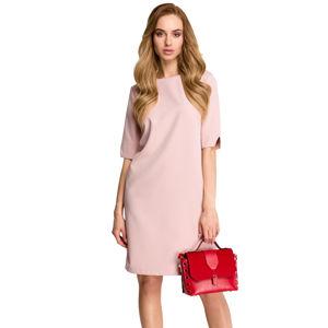 Světle růžové šaty S113