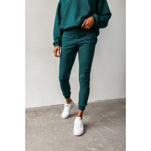 Tmavě zelené teplákové kalhoty Simon