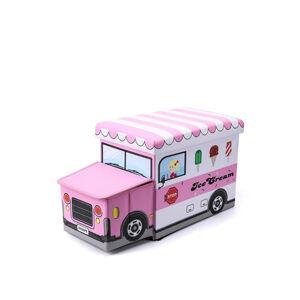 Ružový úložný box Ice Cream II