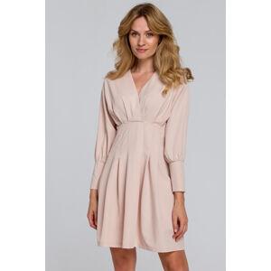 Béžové šaty K087