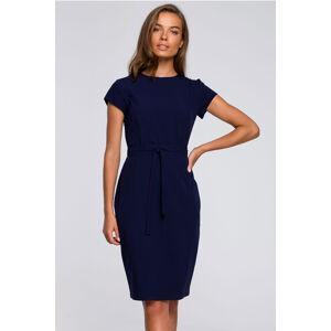 Tmavě modré šaty S239