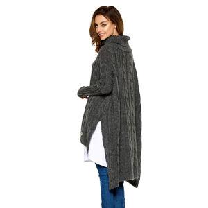 Tmavě šedý pulovr LS215
