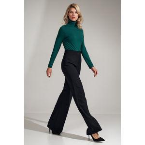 Černé široké kalhoty s vysokým pásem M721