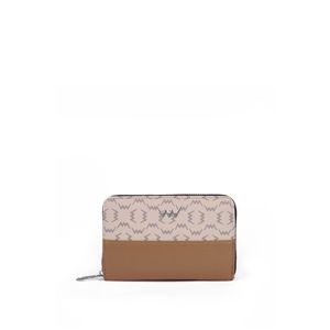 Hnědo-béžová vzorovaná peněženka Abby