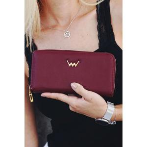 Bordová peněženka Violetie Vida