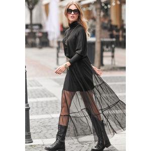 Černé šaty NU257