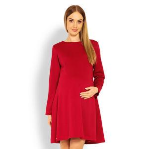 Červené těhotenské šaty 1359C