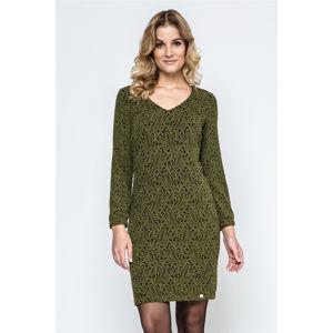Černo-zelené šaty 240117