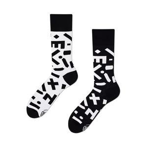 Černo-bílé ponožky Random Forms