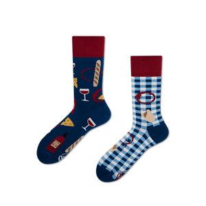 Modré ponožky Bonjour France