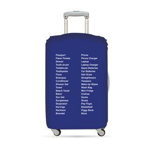 Modrý potah na kufr Loqi Type Things to Pack