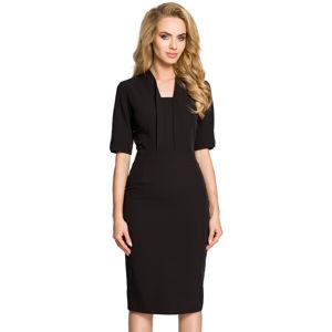 Černé šaty MOE 310